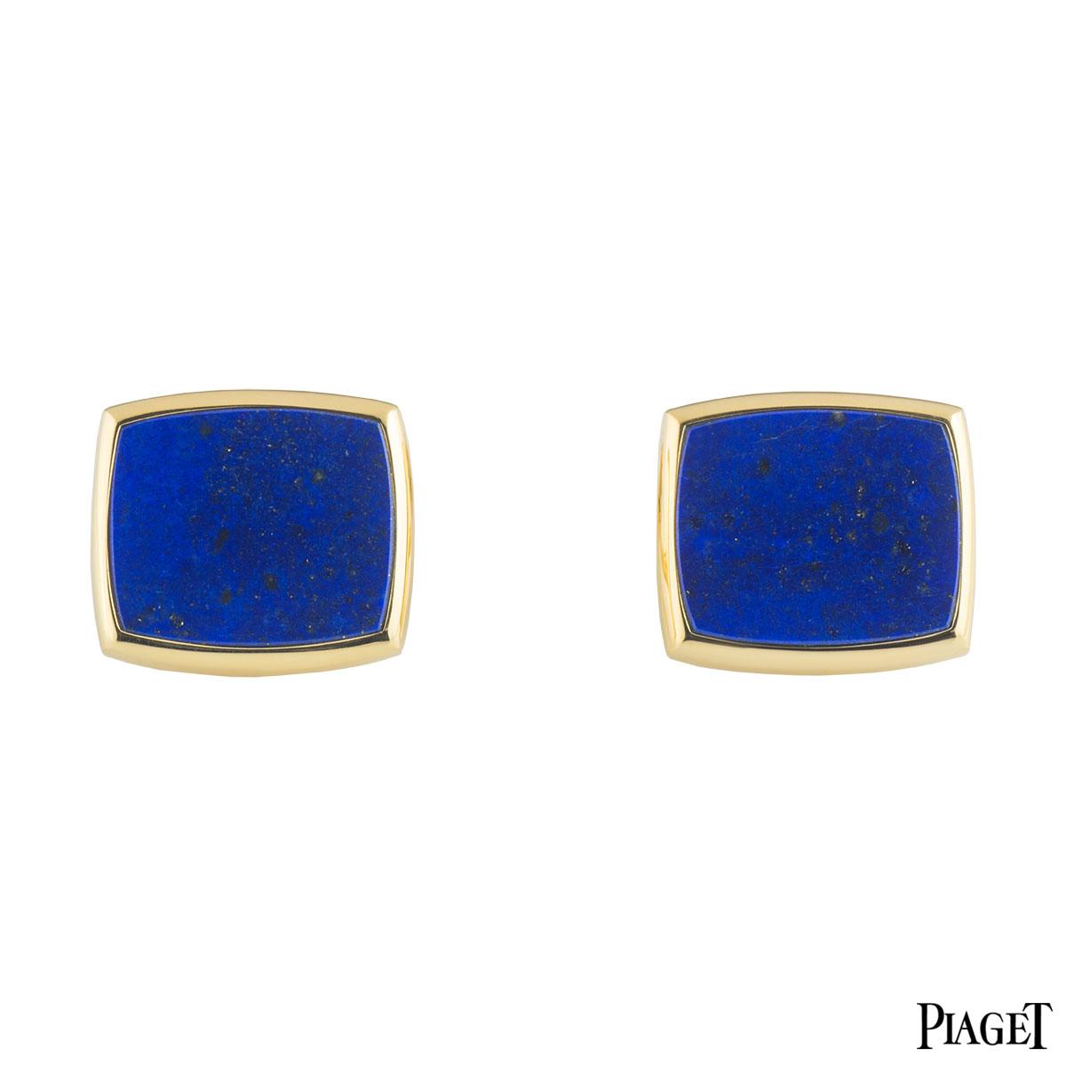Piaget Yellow Gold Lapis Lazuli Cufflinks